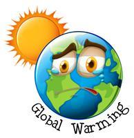 Ikone der globalen Erwärmung vektor