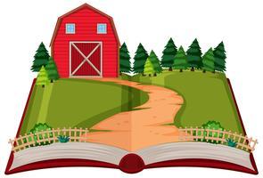 Opem bok landsbygd tema