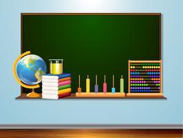 Blackboard med inlärningselement vektor