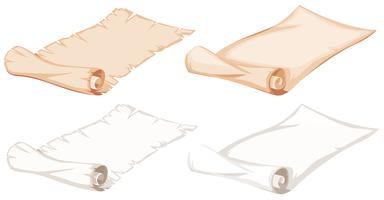 Uppsättning pappersrull vektor