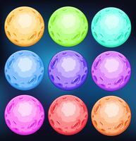 Grupp av färgglada planeter