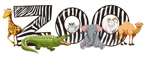 Vilda djur och zoo tecken