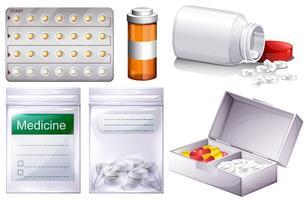Verschiedene Arten von Medizin vektor