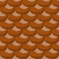 Illustration zum Thema großes Muster identische Typen Haselnuss vektor