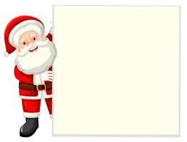 Santa innehav vitpapper vektor