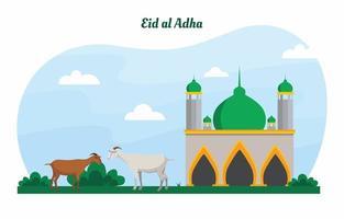 Eid al Adha Pop-Farbhintergrund vektor