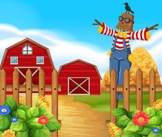 Scarecrow på gården vektor