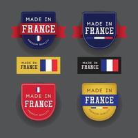 in Frankreich Design-Vorlage Illustrationen gemacht. vektor