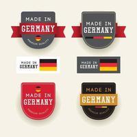 Made in Germany Abzeichen Label Vektor Vorlage.