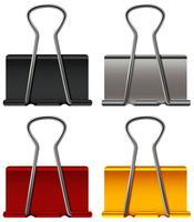 Büroklammer in vier Farben vektor