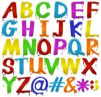 Regnbåge färgade bokstäver i alfabetet vektor