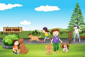 Menschen im Hundepark