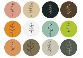 Heben Sie Blumensymbole für Social-Media-Geschichten hervor vektor