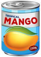 En burk av mangosirap vektor