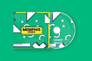 CD-Cover-Design-Vorlage. abstrakte Hintergrundvektorillustration. vektor