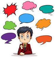 Sprechblase-Vorlagen und Mann