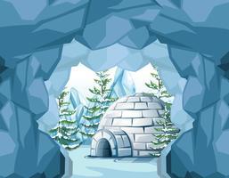 Iglu am Nordpol