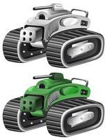 Zwei Ausführungen von Tanks vektor