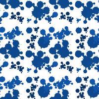 Sömlös bakgrundsdesign med blå stänk