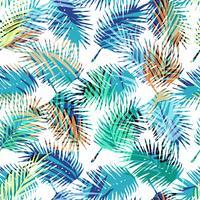 Nahtloses exotisches Muster mit tropischen Palmblättern. vektor