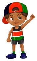 Pojke bär locket bakåt vektor