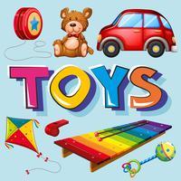 Olika typer av leksaker