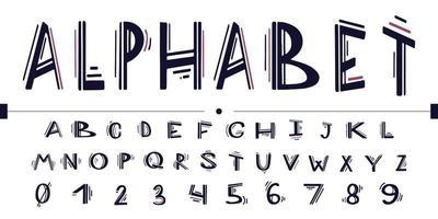 Handbeschriftungsalphabet und typografische Kunst für Designs vektor
