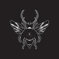 Insektenhandzeichnung vektor