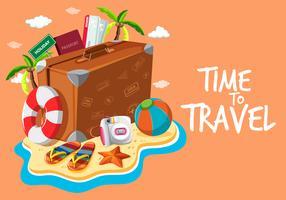 Satz von Reiseobjektvorlage