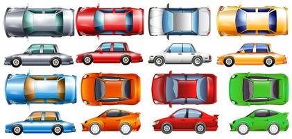 Personbilar i många färger