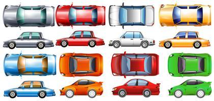 Privatwagen in vielen Farben vektor