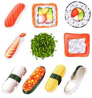 Set von Sushi vektor