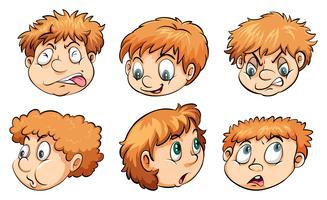 Gesichter mit verschiedenen Emotionen