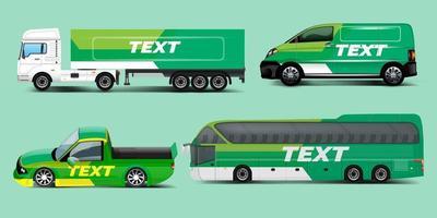 Vektor-Auto-Identitäts-Vorlagen-Design-Set. Branding-Mock-up vektor