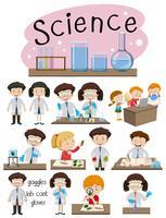 Eine Reihe von Wissenschaftsbildung vektor
