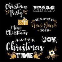 Weihnachts- und Neujahrs-Schriftzüge. Vektorelemente vektor