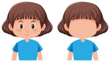 En bob hår flicka karaktär vektor