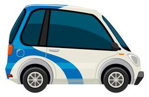 En elektrisk bil på vit bakgrund