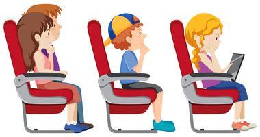 Getrennter Passagier im Flugzeug