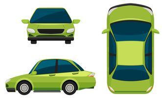 Ein grünes Fahrzeug