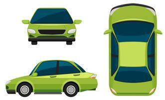Ett grönt fordon vektor