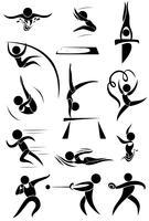 Sportikone für viele Sportarten vektor