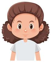 Ett lockigt hår kvinnligt karaktär vektor