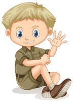 En blond pojke Scout