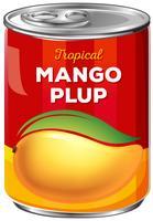 En burk av mango Plup