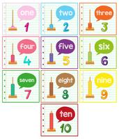 Abakus und Anzahl gesetzt vektor