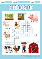 Ein Farm-Kreuzworträtsel-Konzept vektor
