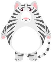 Vit tiger med rund kropp