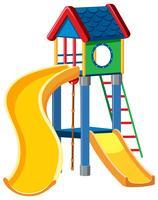 Spielplatz cubby Hausweißhintergrund vektor