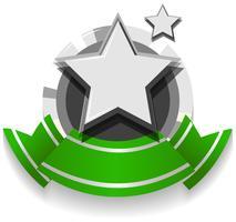 Logo design med band och stjärna
